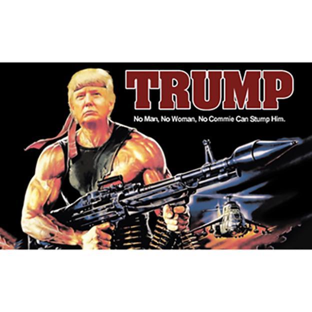 freies Verschiffen Großhandelsfabrikpreis 100% Polyester 90 * 150cm 3x5 fts Trump Gun Pattern American Flag Trump Tank-Flag Trumpf für Dekoration