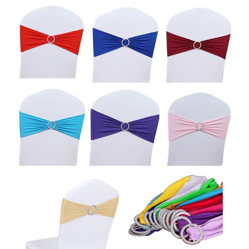 Asciugamani 12pcs / Set Sedia di alta qualità Sedia da sposa Sedie per la decorazione della decorazione della decorazione della cinghia della cinghie del cravatta per i matrimoni Party