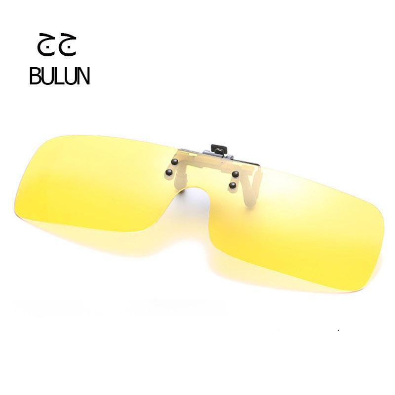 On Sunglasses Clip Men Women Outdoor Driving Sunglasses Polarize Goggles Yellow Night Vision Lens Anti-UVA/UVB Fishing Sun Glass