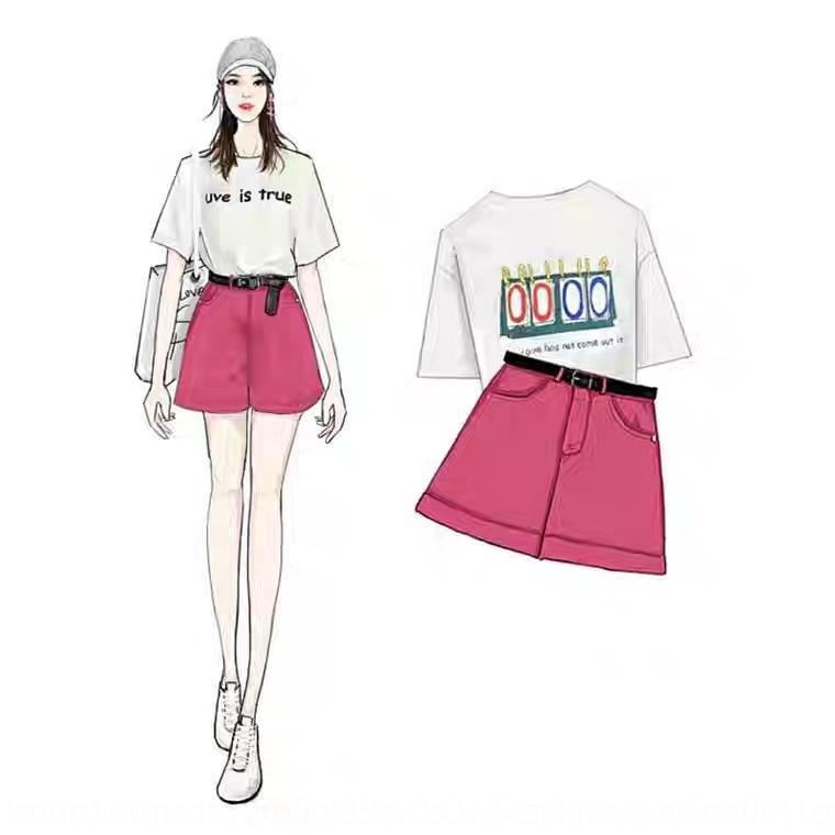 l5qPa coreana nova das mulheres pjhpv terno estilo de altura Internet celebridade pequena 2020 de cintura alta de redução de idade Shorts e bermudas moda de duas peças su