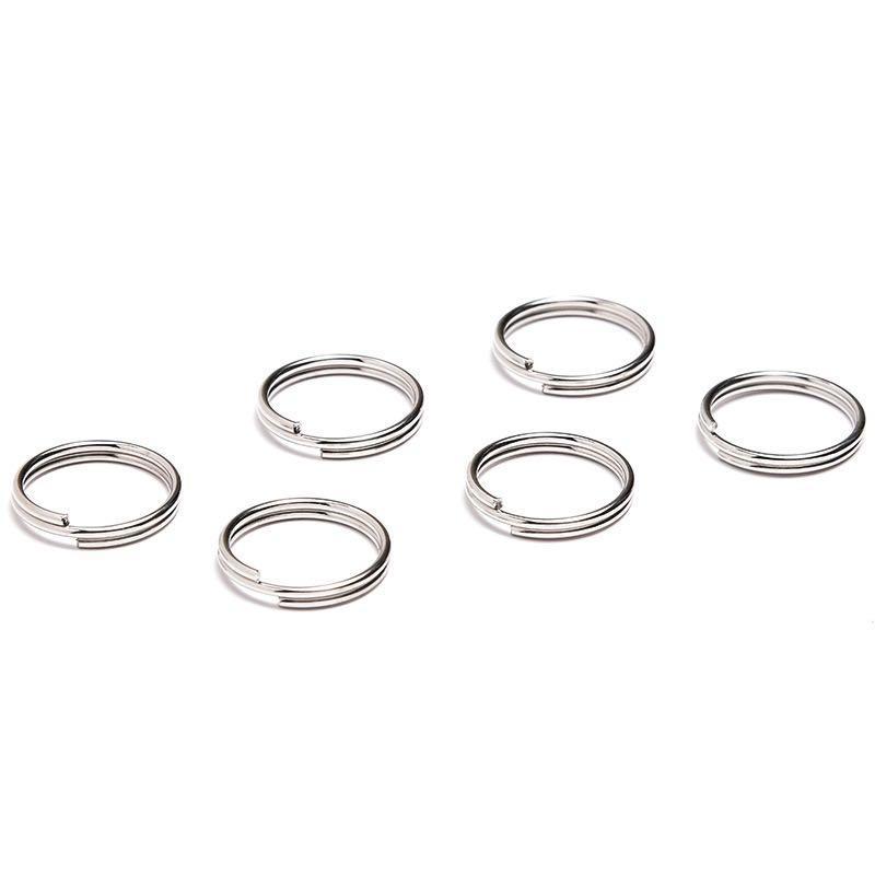 16,5 milímetros Atacado diâmetro planas Dividir inoxidável Rodada anéis chaves de aço, porta-chaves Chaveiro Fit Chaveiros Fitting Jóias