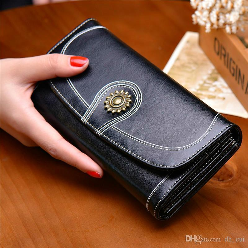 V18 NALANDU Wallet Frau 2020 neue koreanische Version Leder Multifunktions lange Handy Brieftasche Frau Handgeldbeutel