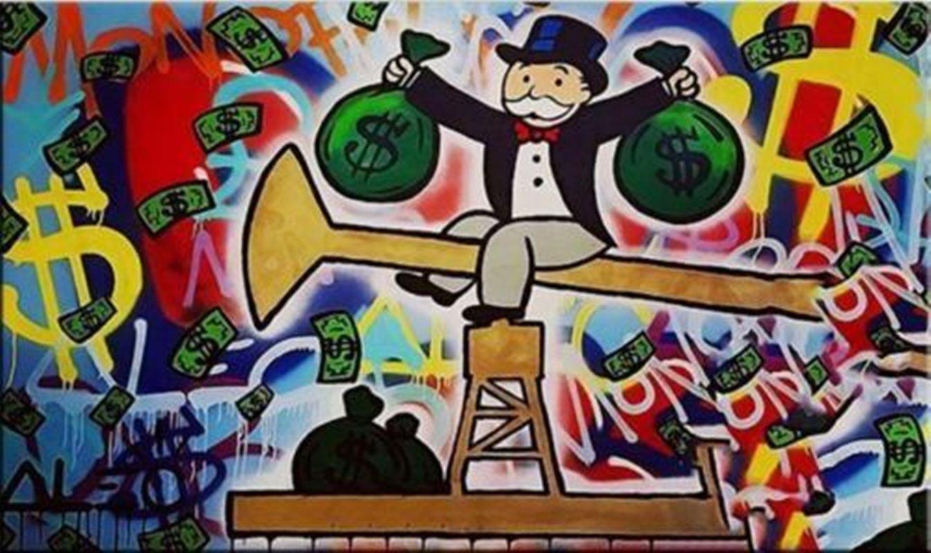 arte Alec Monopoly Graffiti Oil dinheiro Wall Decor pintado à mão HD impressão pintura a óleo sobre tela Wall Art Canvas Pictures 200817
