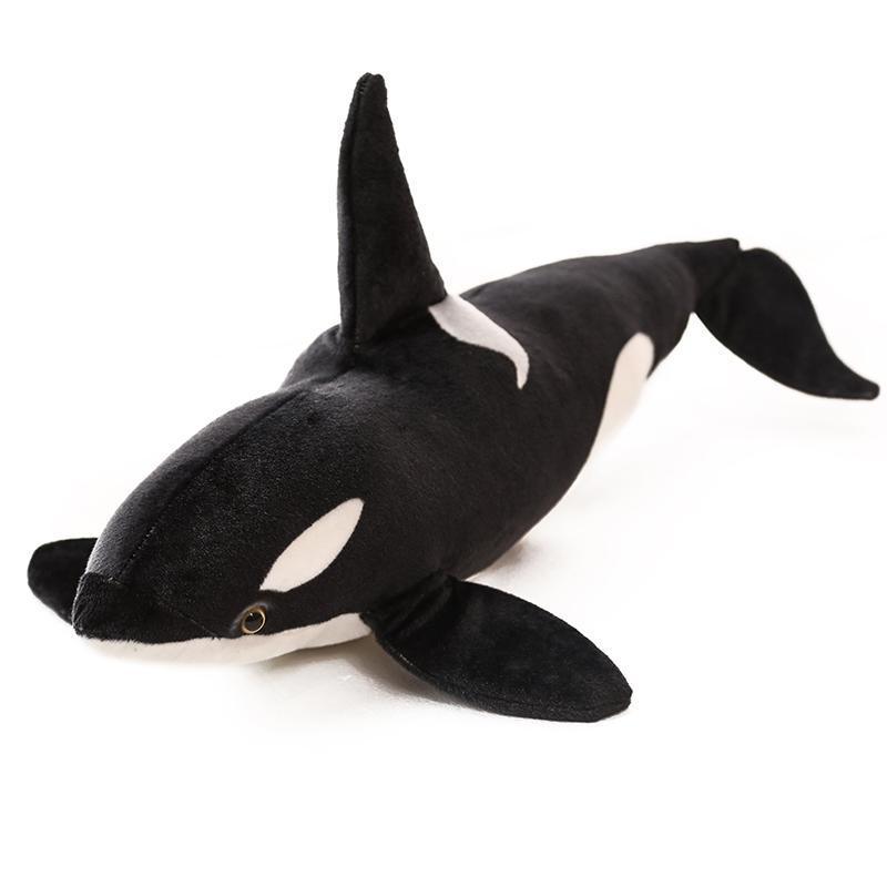 75cm 130cm Simulation Marine Shark animal Giant Killer Whale Plush Toy Lifelike sea Animal World Fish Stuffed Pillow Photo tool Y200723