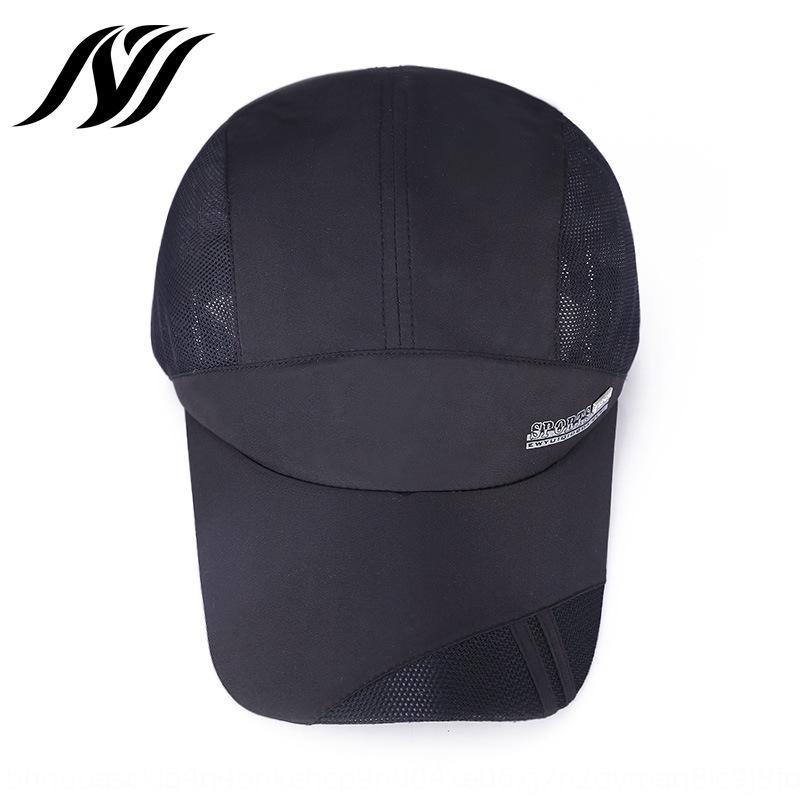 Corea del estilo exterior neta de béisbol del sombrero del sol-shading del sombrero de secado rápido deportes al aire libre Deportes de los hombres de béisbol de verano 8p51K