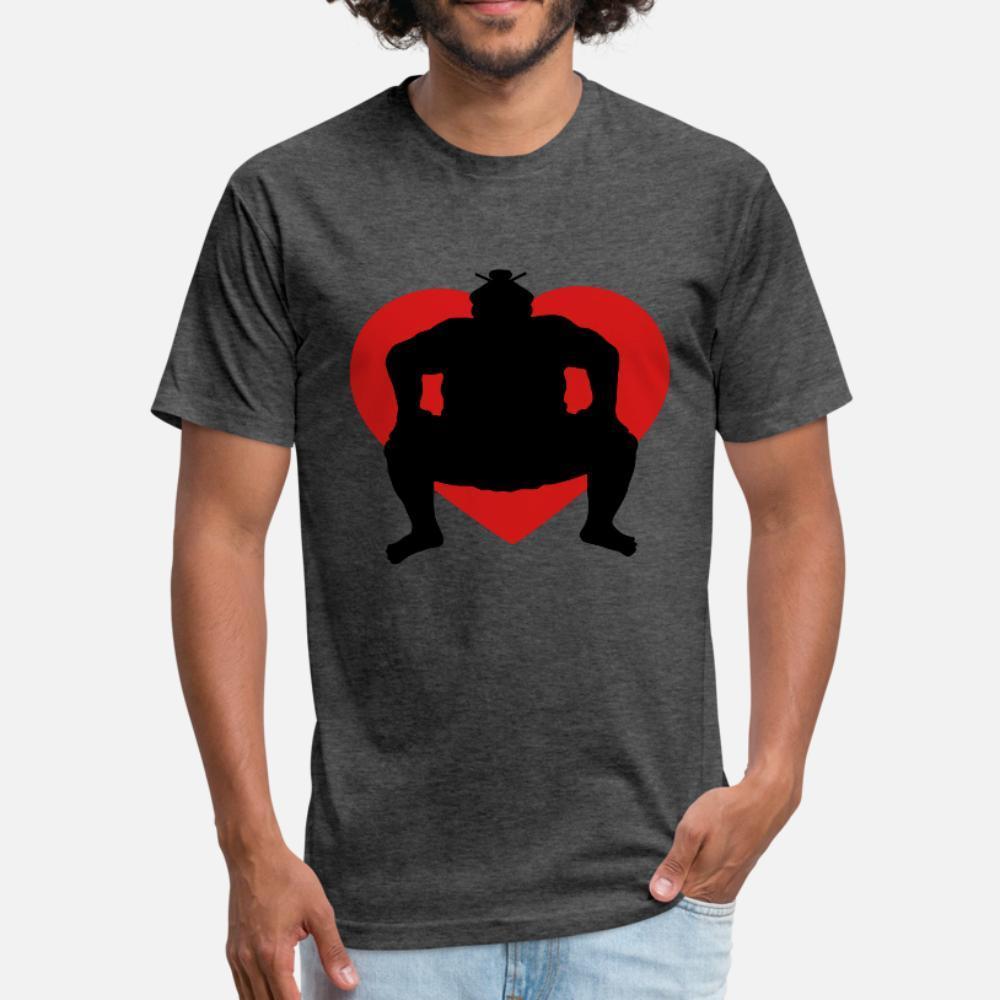Cuore di I Love lottatore di Sumo Sport Sumo Wrestler Asi uomini della maglietta design manica corta S-3XL luce solare maschio camicia Pictures nuovo modo estate