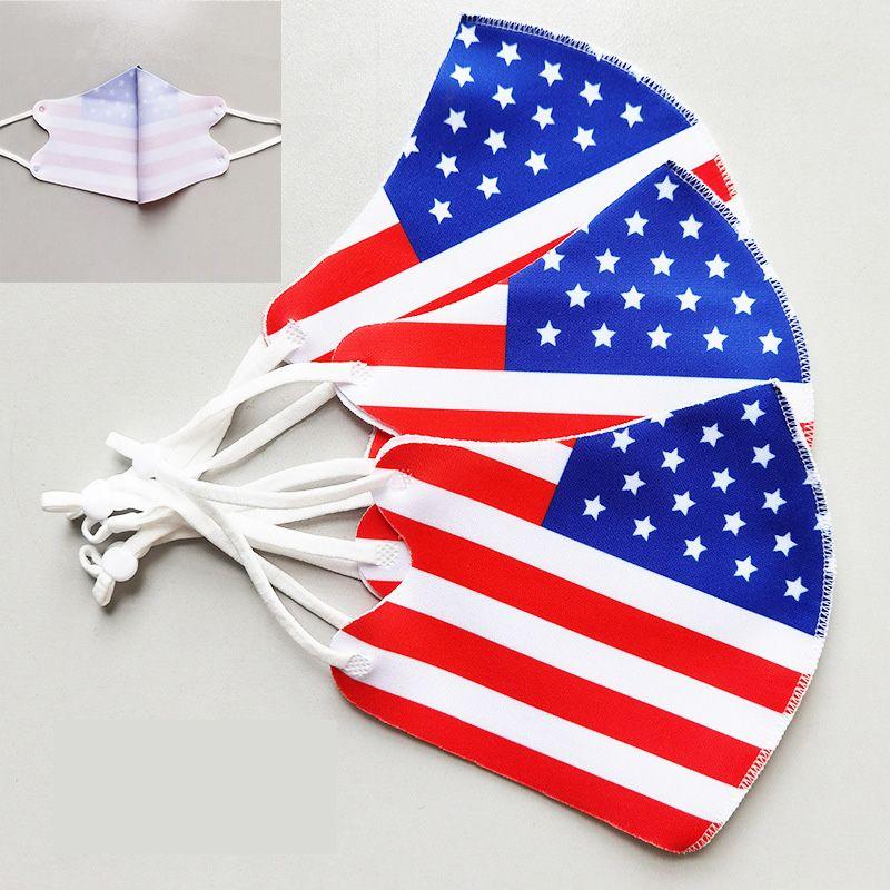 DHL été Drapeau Masque antipoussière Bataille Etats-Unis Drapeau du Sud Masques bouche Drapeau Guerre civile Lavable réutilisable soie glace masque design visage
