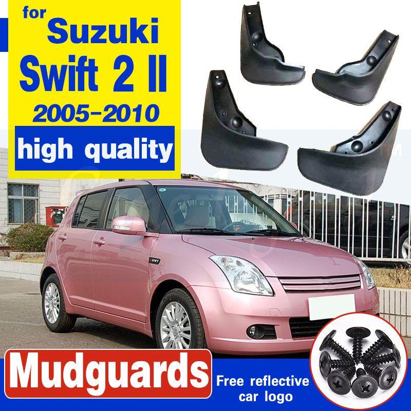 Lambeaux de boue automobile pour Suzuki Swift 2 II 2005-2010 Mudfffls Guards Splash Guards Mud FLAP Garde-boue Fender 2006 2008 2009 2009