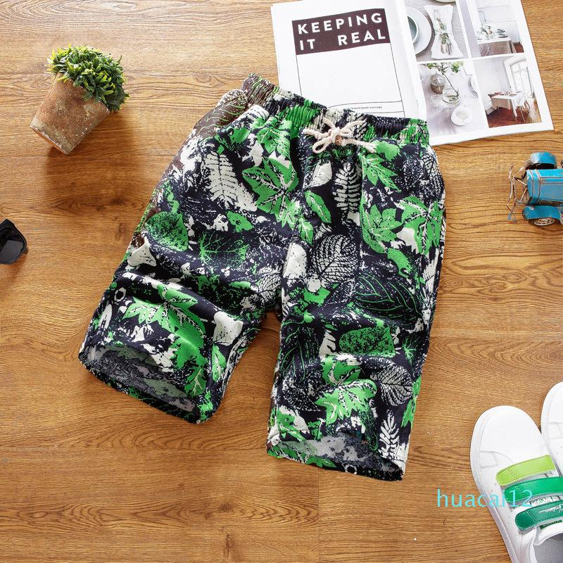 Hot Sale New recommended fashion men's casual shorts elastic waist summer pattern beach pants loose cotton and linen shorts size XL-4XL