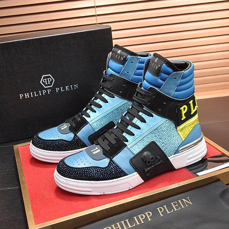 Shaspet alta calidad de los hombres de los zapatos ocasionales de lujo de moda de las zapatillas de deporte de ocio Lunkal atléticos Chaussures aptitud Pour Hommes Phantom Kick $ Hola-Top Cr