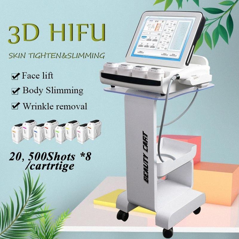 Nova chegada 3D HIFU pele aperto Anti Aging rugas máquinas portáteis 3d HIFU máquina com 8 cartuchos CE Certificado O3vC #