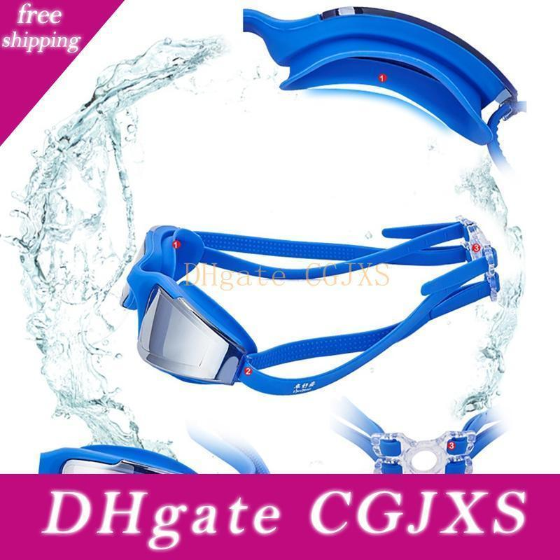 Gafas de natación Gafas de natación No Fugas contra la niebla Uv Tection Triathlon gafas de natación Hombres Mujeres Jóvenes Niños Niño