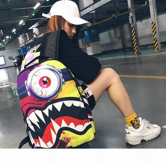 Siklopi canavar sırt çantası S tasarım daypack Köpekbalığı ağız okul çantası sırt çantası Spor okul çantası Açık gün paketi Sprey