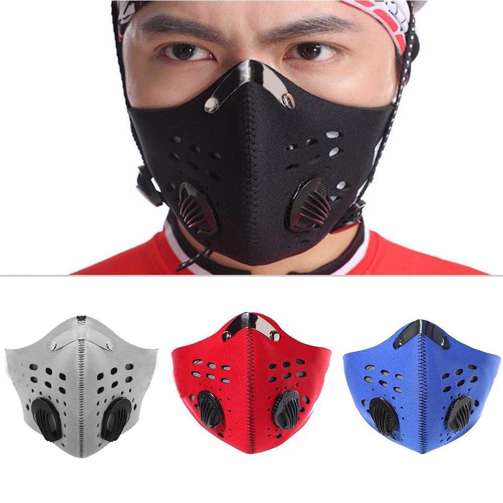 Máscara Esporte Formação Outdoor Ciclismo rosto Correndo cobrir a boca PM2.5 Dust-proof Anti-poluição respirável Filtro de carbono ativado Masks1