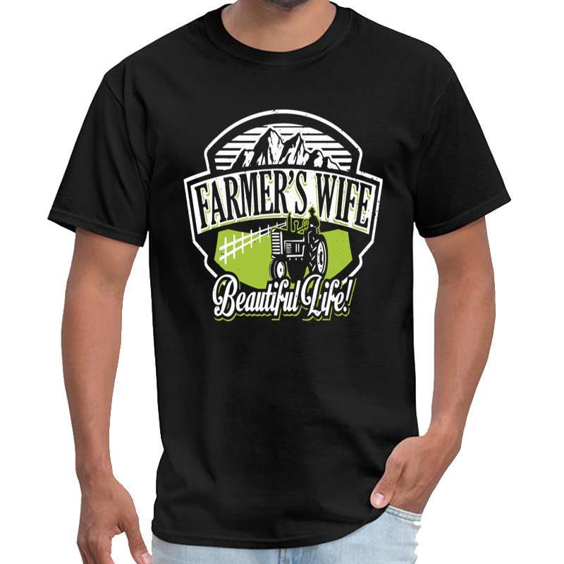 Печать жена фермера - Красивая жизнь тенниска мужчин мужчин и женщин сербия т рубашки 3xl 4xl 5xl HipHop топы
