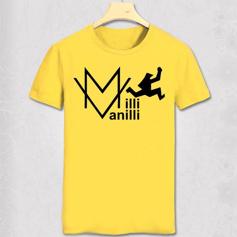 Milli Vanilli T shirt Hip Hop Rap Music T-shirt di moda shirt design tee degli uomini cotone Rob Fab Milli Vanilli maglietta del cotone