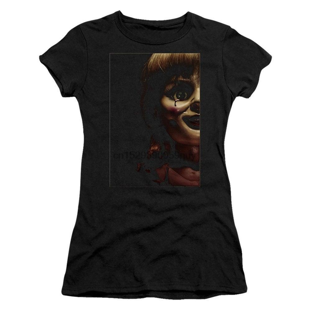 Annabelle Poster Arte Juniors e mulheres negros Shirts