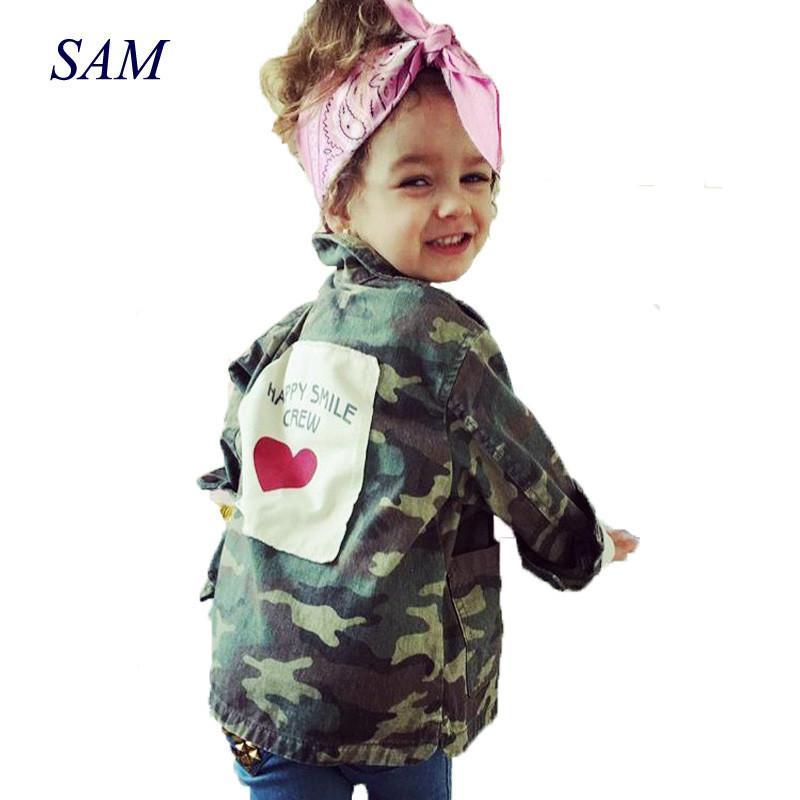 Bébés garçons et filles Printemps Parkas Manteaux Coton Mode enfants unisexe Plein manches Vestes Camo Vêtements LJ200828
