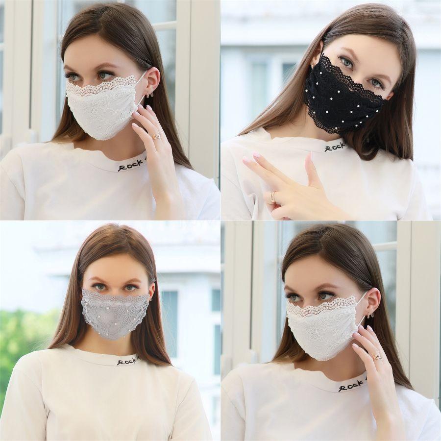 Maschere Reathable Fllower Stampato adulto lavabili Shield Masque Maschera per il viso maschere prection Naso anti-polvere Dust Mask Prova # 711