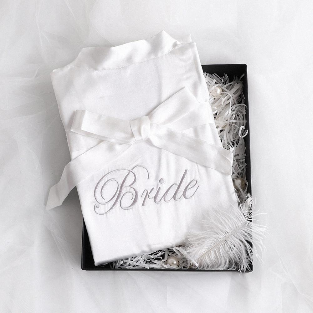 Noiva da dama de honra As letras do ouro Robes noiva Robes Pijama Roupão Nightgown.Women Satin casamento Kimono Pijamas Get Ready qSD0 #