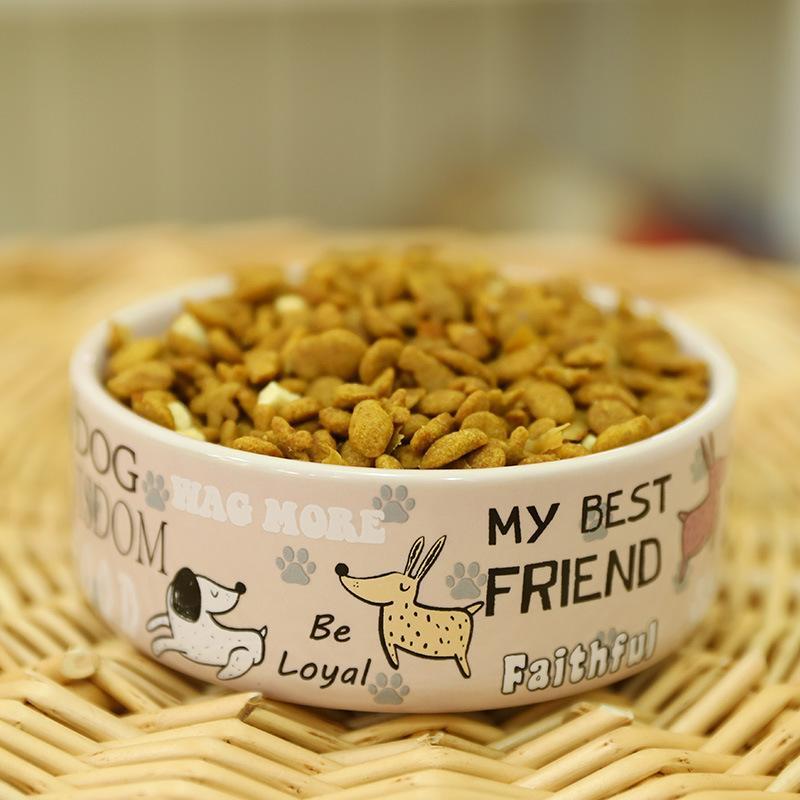 Bella Pet Alimentatori inglese del modello del fumetto di qualità spesse antiscivolo Ceramica Bocce elevati per cani e gatti Pet Supplies Accessori Y200917