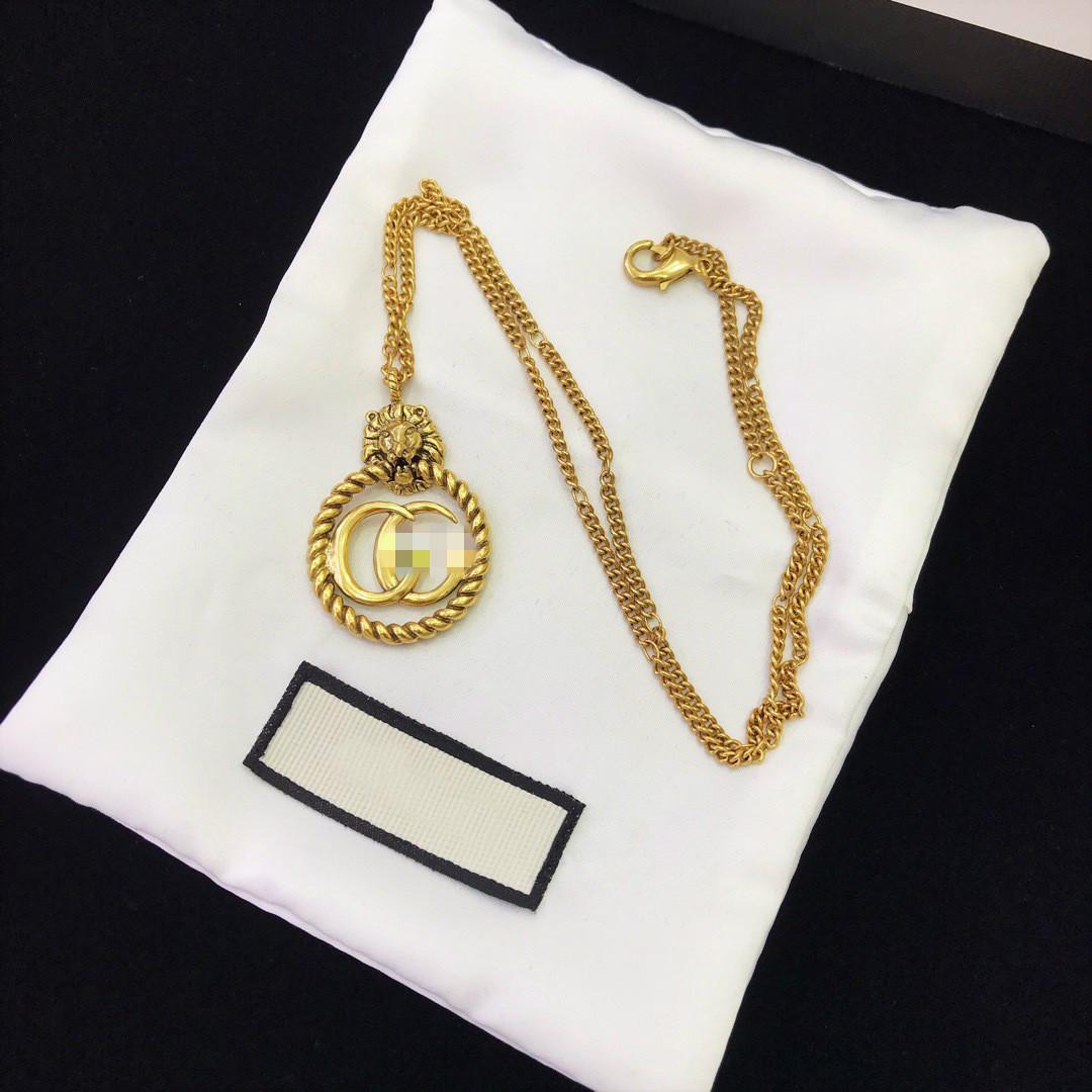 Новая поступление серьги латунь материала цепь с формой головы льва для человека подвеска ювелирных изделий ожерелья свадебного подарка бесплатной доставки