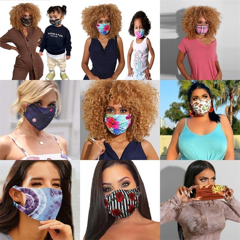 Planètes Coeur Bouche Masques Visage Impression Fleur Camouflage Mascarilla Mode Mascherine réutilisable personnalisé Vélo Lady enfants 6 88md C2
