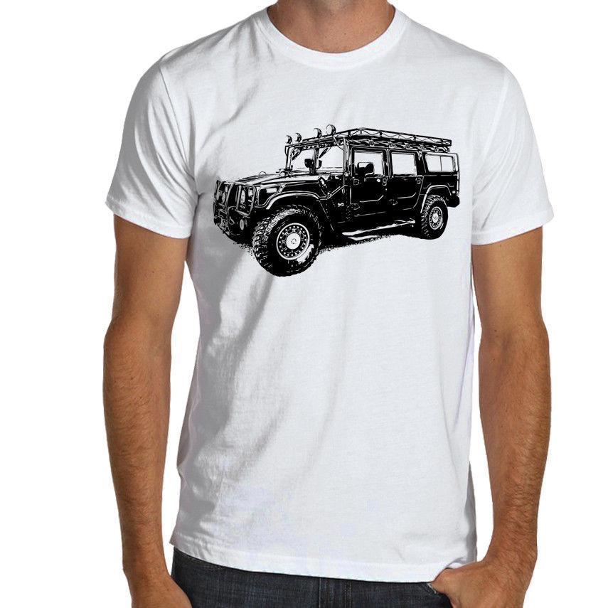 2019 Новая мода Прохладный Tee Shirt Военный внедорожник H1 SOFT Cotton T-Shirt S-XXXL нескольких цветов Off Road Пользовательские футболку
