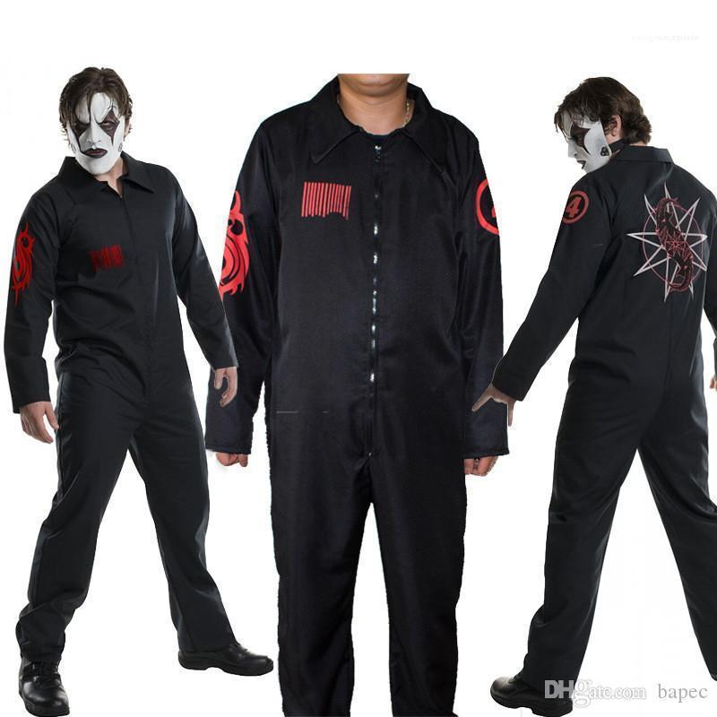 Uniformi Abito Digital Halloween Party stampato Maniche lunghe Black Movie Stars Cosplay SlipKnot Tema Costume