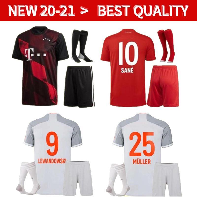kids football kits 20 21 Bayern kit Munich men soccer JerseyS LEWANDOWSKI 2020 2021 HERNANDEZ COUTINHO uniforms Full set Football shirts