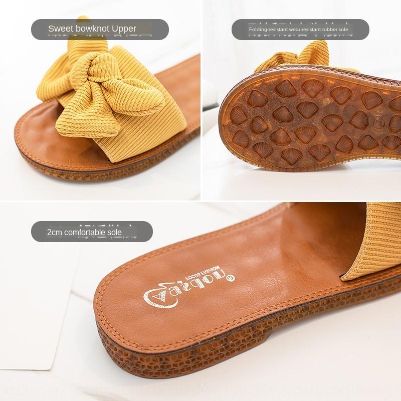 estate Augustenton nuovi sandali moda casual arco di moda pantaloni a vita bassa delle donne in e pantofole pantofole sandali netti di usura infrarossi