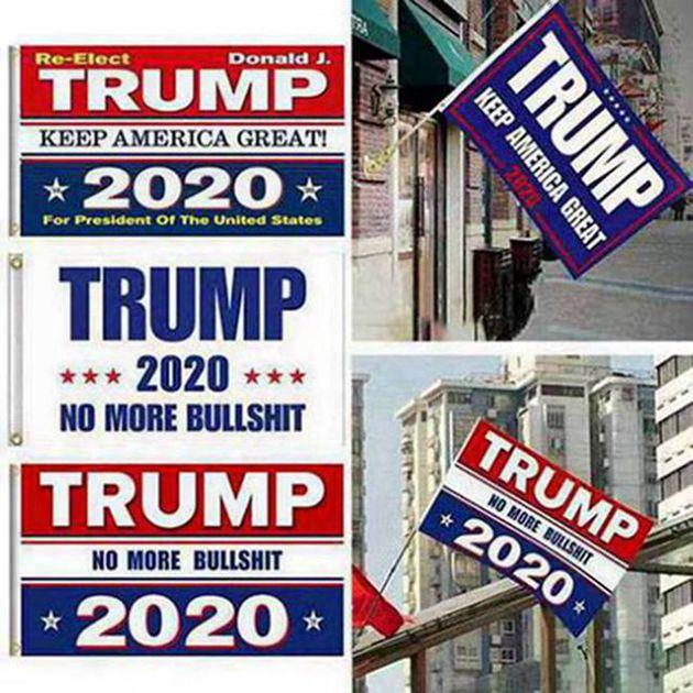90 * 150cm Keep America Große Donald for President Kampagne Banner 5 Styles Trump 2020 Flag Donald Trump Flagkette Garten Flaggen 60pcs