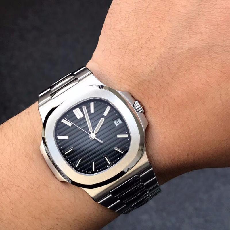 Orologi da uomo in alto orologio da uomo in acciaio completo per uomo nautilus pp classico orologi maschili di alta qualità orologio sportivo di alta qualità