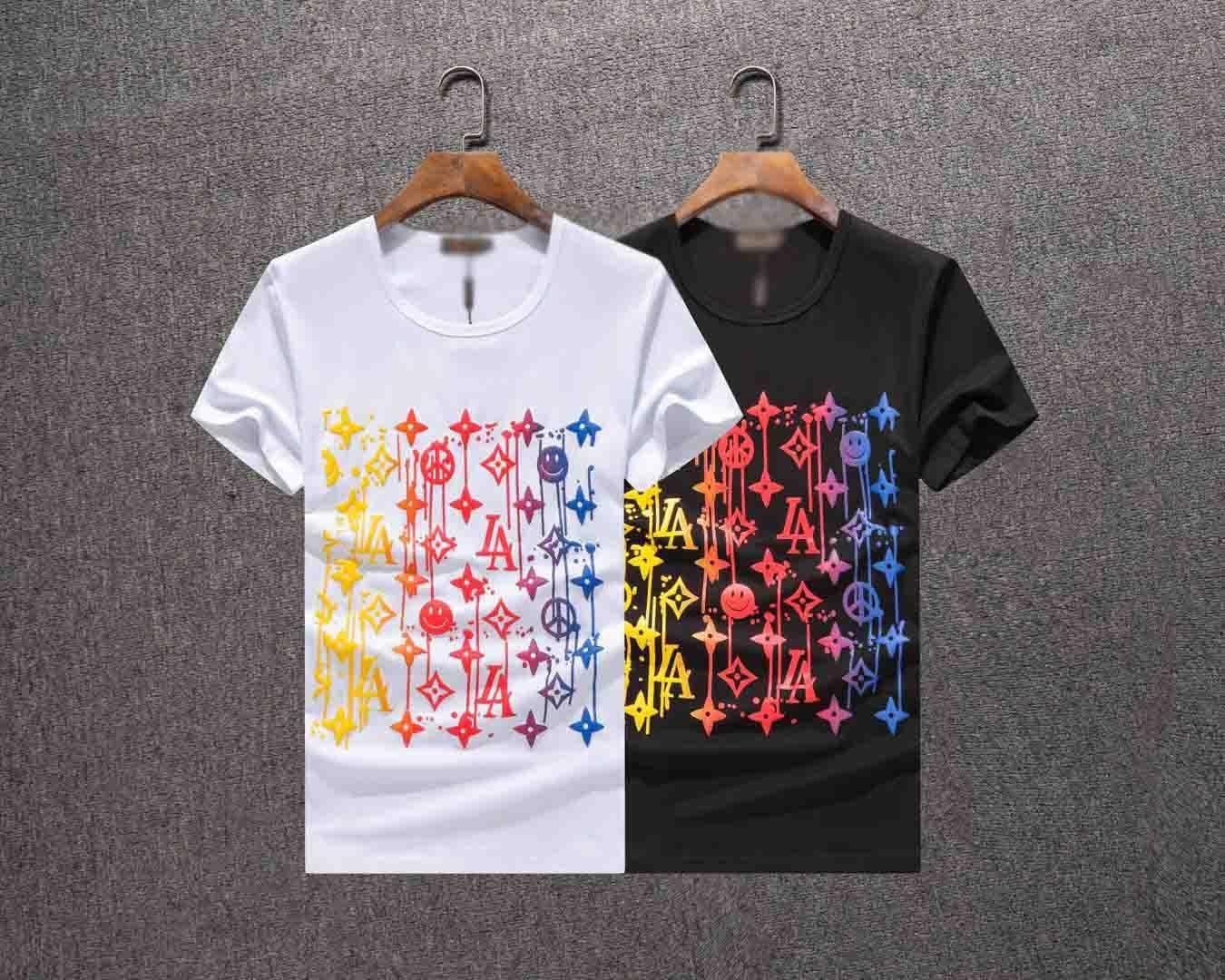 De lujo Camiseta de Hip Hop pájaro de la manera impresión del Mens diseñador de la camiseta de manga corta de alta