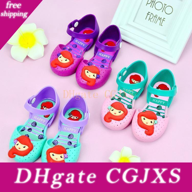 사랑스러운 공주 신발의 멜리사 젤리 신발 공주 한국어 버전 도매 여름 새로운 여자 샌들 DHL