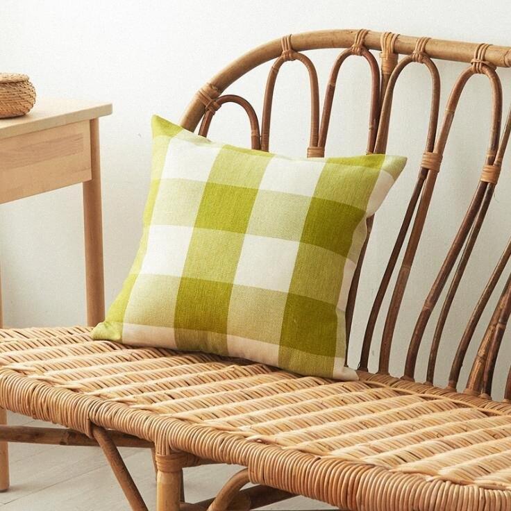 Moda a righe Copricuscino cuscino della stretta plaid di caso di colore della caramella di cotone Federe modo che si siede Divano decorazioni WY269 3Q Pillow J0yC #