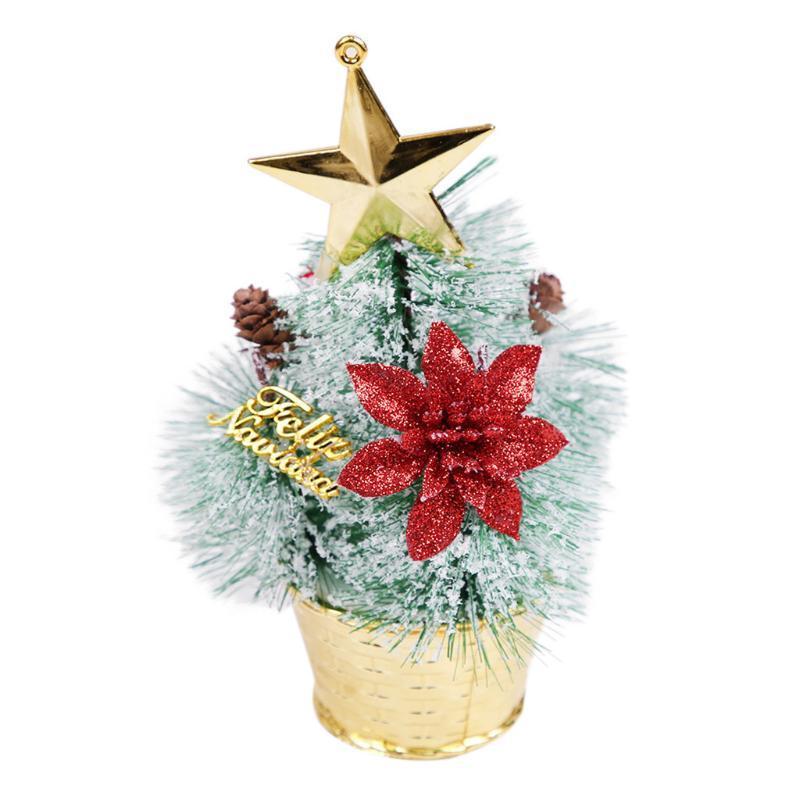 OurWarm 1Pc Sisal fibra Mini albero di Natale Neve Brina Mini albero di Natale del mestiere di DIY tavolino della decorazione Ornamenti