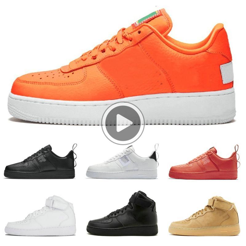 Utility preto que funciona branco Shoes Linho Red Apenas Laranja enterrar estilista Homens Mulheres Sapatos Alta Baixa Formadores Corte Sports Sneaker 4GN4