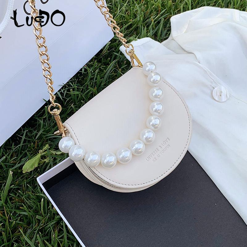 Estate mini bag femminile bag nuove donne crossbody spalla 2020 moda ins catena signore calde sella piccola perla di borse a tracolla