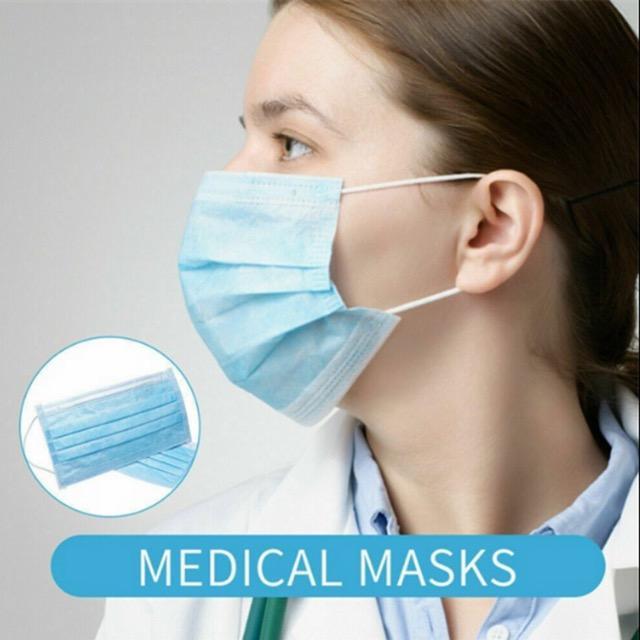 Máscara de Vendas fabricante Medical 3 Ply alta qualidade descartável Rosto