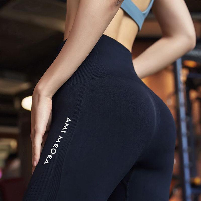 2020 Frauen Gym Tights Energie Seamless Yoga-Hosen mit hoher Taille Elastizität Laufsport Gamaschen-Gymnastik-Eignung-Hosen Weiblich Mädchen