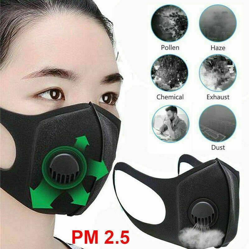 Sünger PM2.5 1pc Yüz Toz Filtre Maskesi Vana Haze Toz Erkekler Kadınlar Yıkanmış Nefes ile Hava Kirliliği Kış Ağız çok kullanımlık maske
