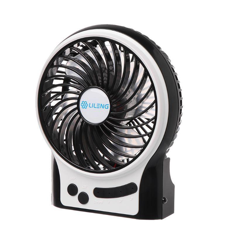 Lileng перезаряжаемый портативный вентилятор, работающий от батареи или USB Powered вентилятор, Ручной вентилятор с внутренней и боковой подсветкой, личный C