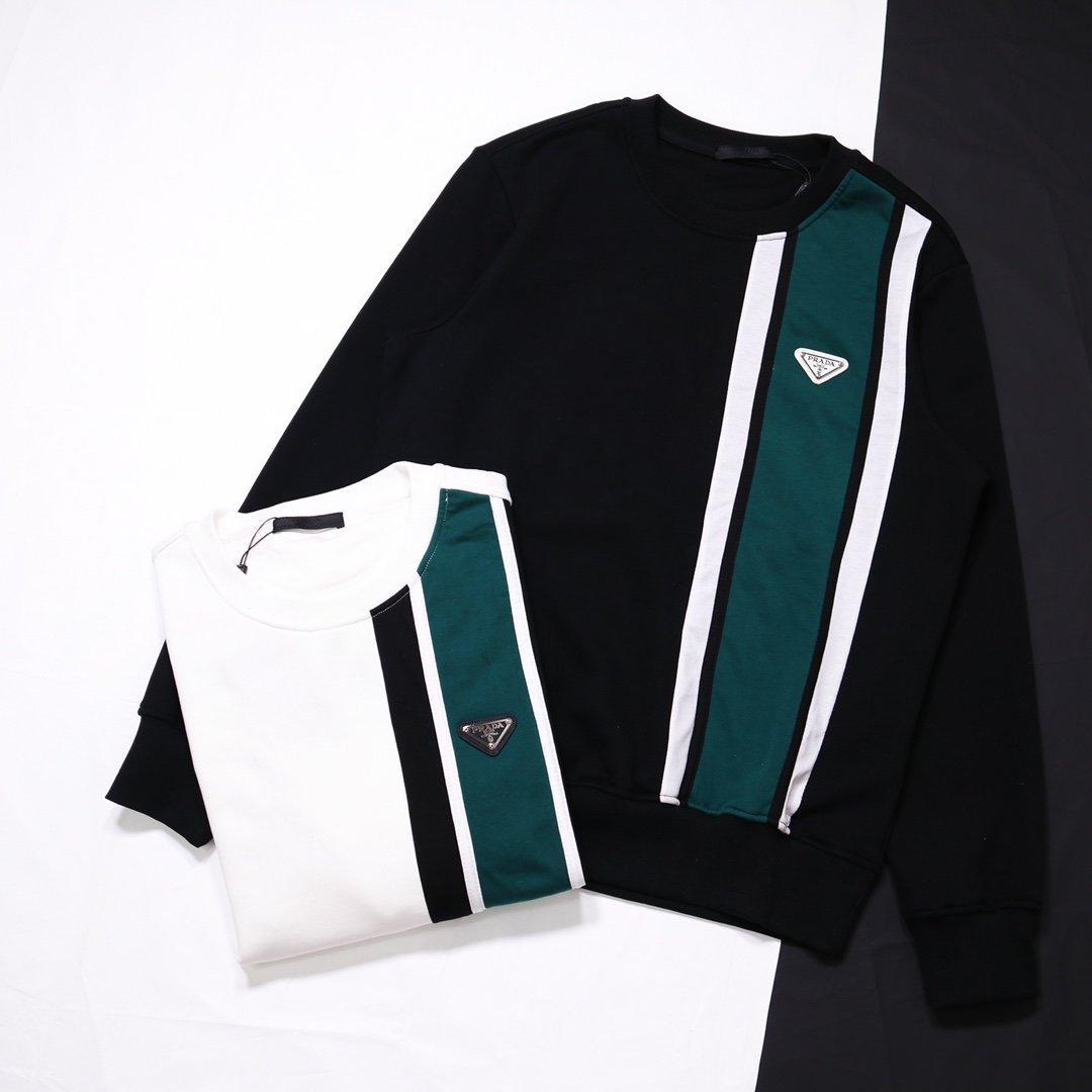 20SS 프랑스 최신 봄 여름 패션 삼각형 스웨터 다시 편지 남성 여성 캐주얼면 야구 셔츠 까마귀 흑백