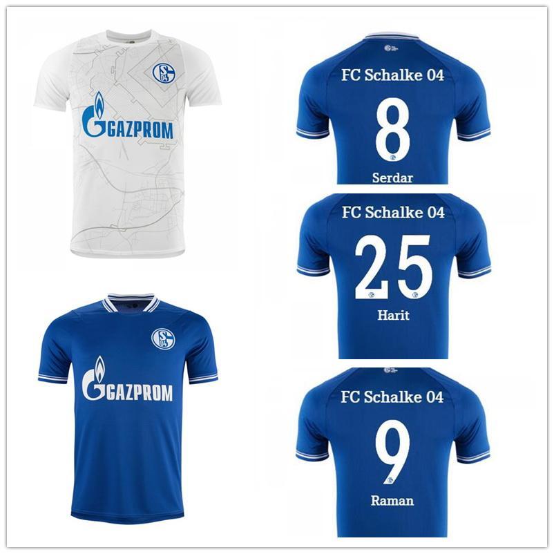 Schalkeカスタマイズされた20-21 7 uth 8 Serdar 9 Ramanthai品質サッカージャージ習慣14 Matondo 25 Harit Yakuda Dropping Accepted Football Wear