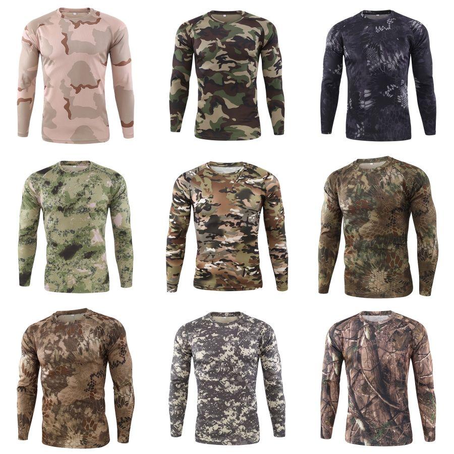T-Shirts Langarm T-Shirts Regular Länge dünne Oberseiten der Männer Dasigner beiläufigen # 979