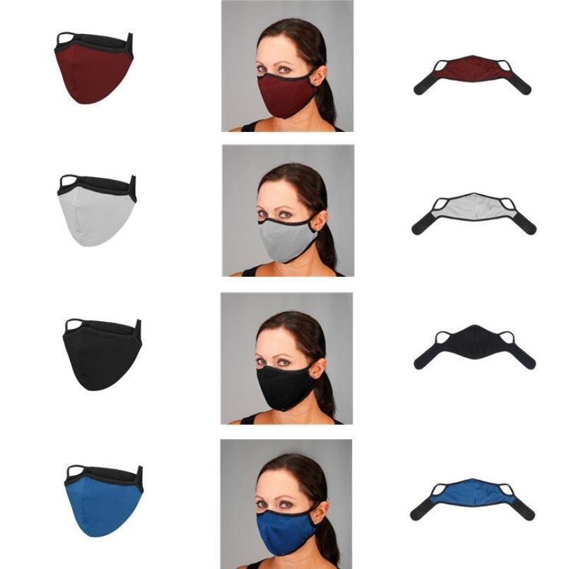Bisiklet Maske Katı Renk İki Katmanlı Solunum toz geçirmez Anti-pus Nefes Maskeleri Yıkanabilir Tekrar Kullanılabilir Tasarımcı Yüz Ağız Kapak HWD892
