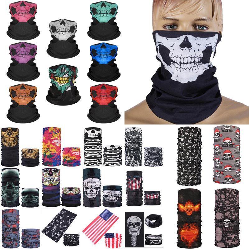 Halloween-Party-Masken Halloween Gesichtsschutz Schädel Multifunktions-Magie Turban Riding Mask Warm und Veränderbare Gesichtsmaske XD23840