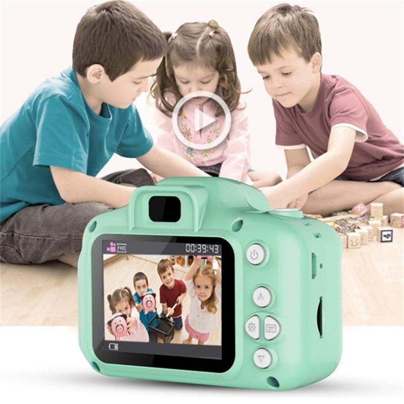 Portable numérique Enfants Cartoon Mini caméra 2,0 pouces d'écran Photo Vidéo enfant Kamera éducation Noël cadeau pour les enfants
