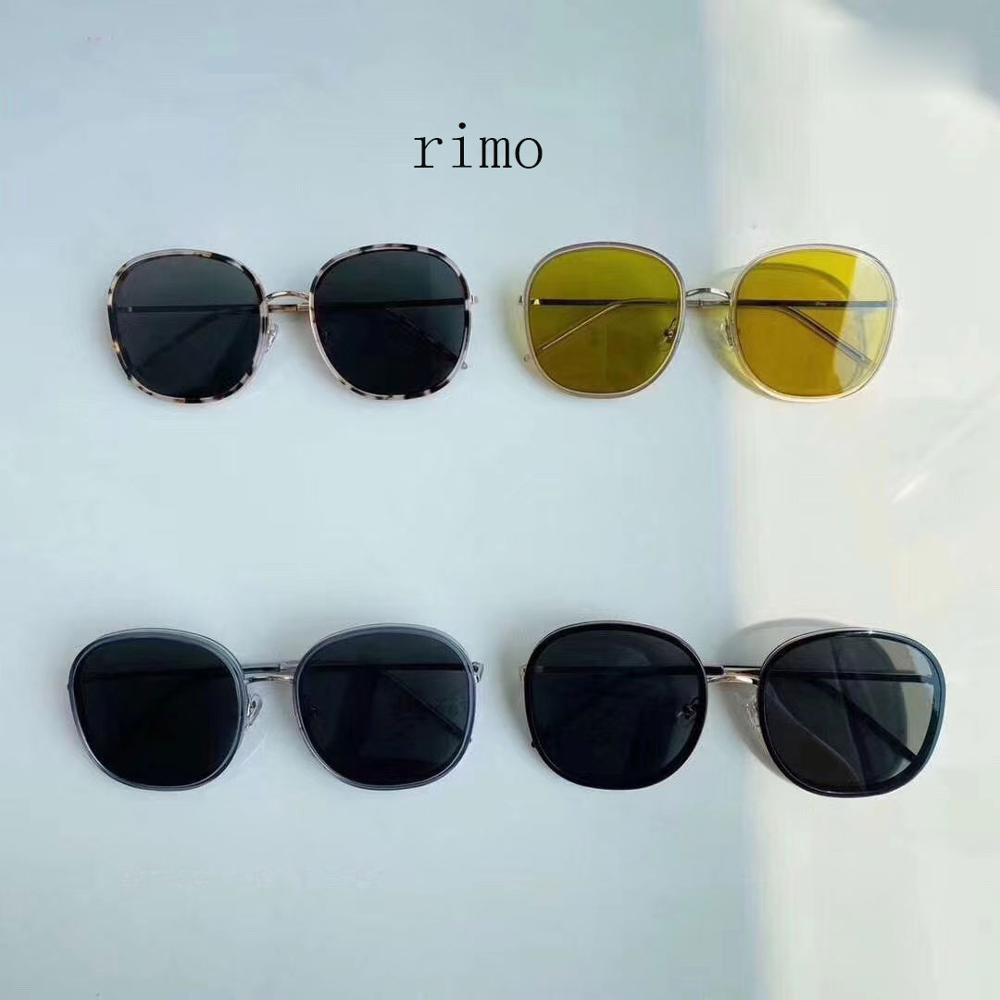 Gafas redondas Moda Corea Rimo Design Mujeres Original con Embalaje Sun 2020 Gentie New UV400 Sunglasses Menor MOTDB